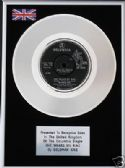 "SOLOMAN KING - 7"" Platinum Disc - SHE WEARS MY RING"